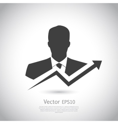 Businessman goes to success vector