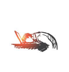 businessman stress tiredness programmer vector image