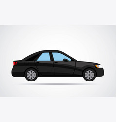 Car vehicle black isolated vector