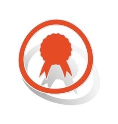 Certificate sign sticker orange vector