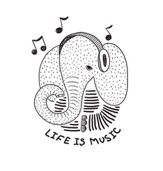 character is a stylized elephant vector image