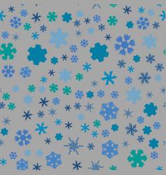 chunky snowflake seamless vector image
