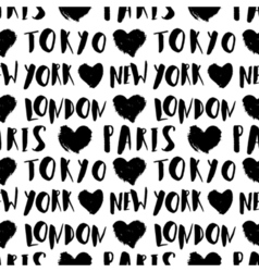 City Names Seamless Pattern vector