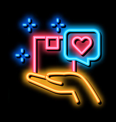 Client good deal neon glow icon vector