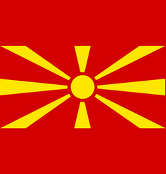 colored flag of macedonia vector image