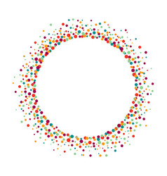 Colorful frame from dots on white background vector