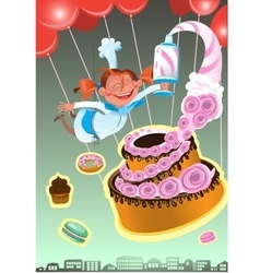 confectioner of sweet baked vector image vector image