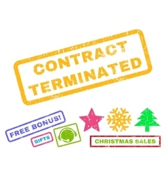 Contract Terminated Rubber Stamp vector