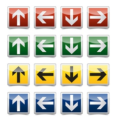 Danger arrow sign set vector