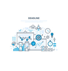 Deadline project management planning vector