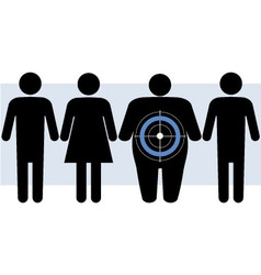 Diabetes targets overweight people vector image