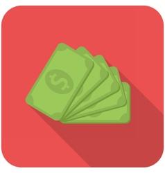 Dollar banknotes icon vector