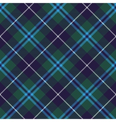 Douglas tartan seamless diagonal pattern fabric vector
