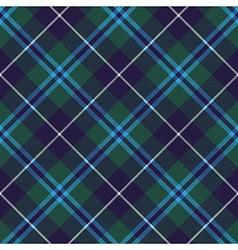 douglas tartan seamless diagonal pattern fabric vector image
