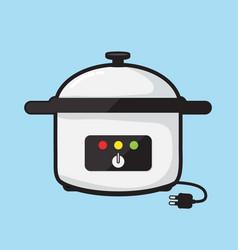 Electric pot vector