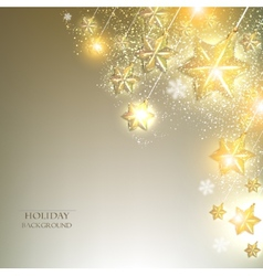 Elegant Christmas background with stars garland vector
