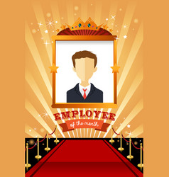 employee of the month poster frame vector image