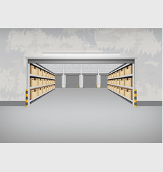 empty warehouse building vector image