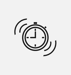Fast time sign time icon on white background vector