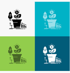finance financial growth money profit icon over vector image