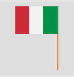 Flagpole with italy flag vector