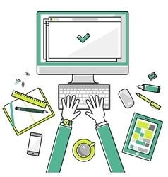 Flat linear design concepts vector image