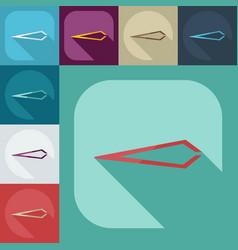 Flat modern design with shadow icons tweezers vector