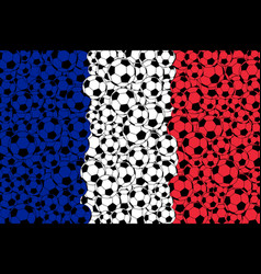 france flag consisting of football balls vector image