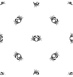 fresh live crab pattern seamless black vector image