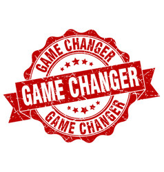 game changer stamp sign seal vector image