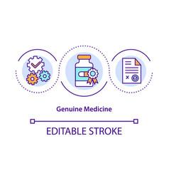 Genuine medicine concept icon vector