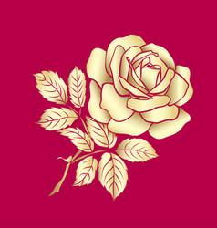 golden rose sketch vector image