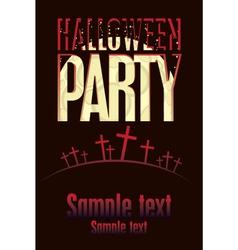 Halloween parties vector