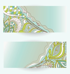 Hand drawn floral banners vector