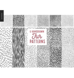 Handdrawn patterns vector