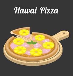 Hawaii pizza vector