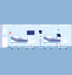 hospital room interior healthcare doctor office vector image