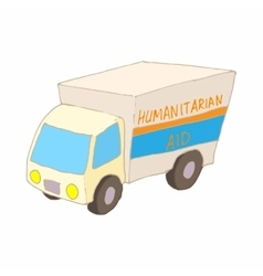 Humanitarian aid car icon cartoon style vector image