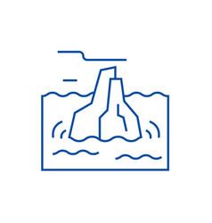 iceberg line icon concept iceberg flat vector image