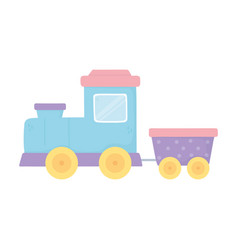 kids toys train wagon icon design white background vector image
