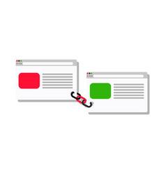 Link building service - link business flat vector