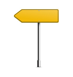 Mockup direction arrow blank signboard vector