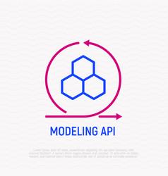 modeling api thin line icon vector image