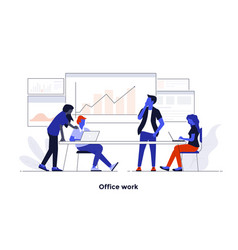 modern flat design concept - office work vector image