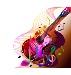 music banner background with guitar vector image