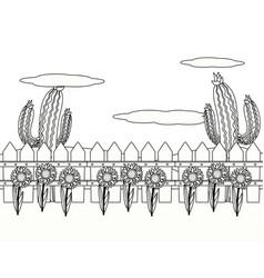 Outdoor scene cartoon vector