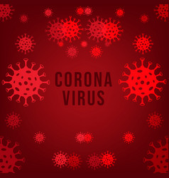 Pandemic corona virus outbreak background vector
