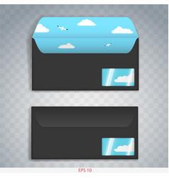 Paper or cardboard envelope vector