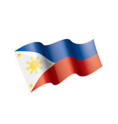 philippines flag on a white vector image