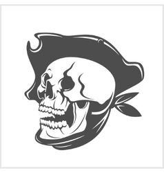 Pirate Skull and hat vector image